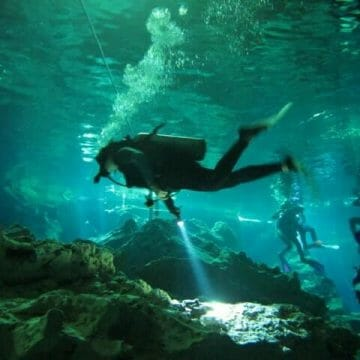 Cenote diving Mexico on What's Katie Doing? blog