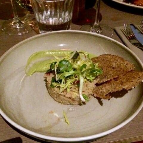 The Dorset crab served with toast & salad garnish