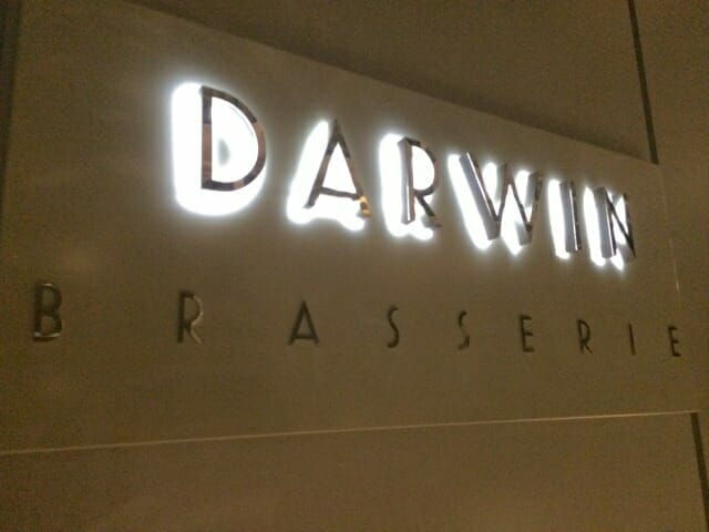 Darwin Brasserie sign