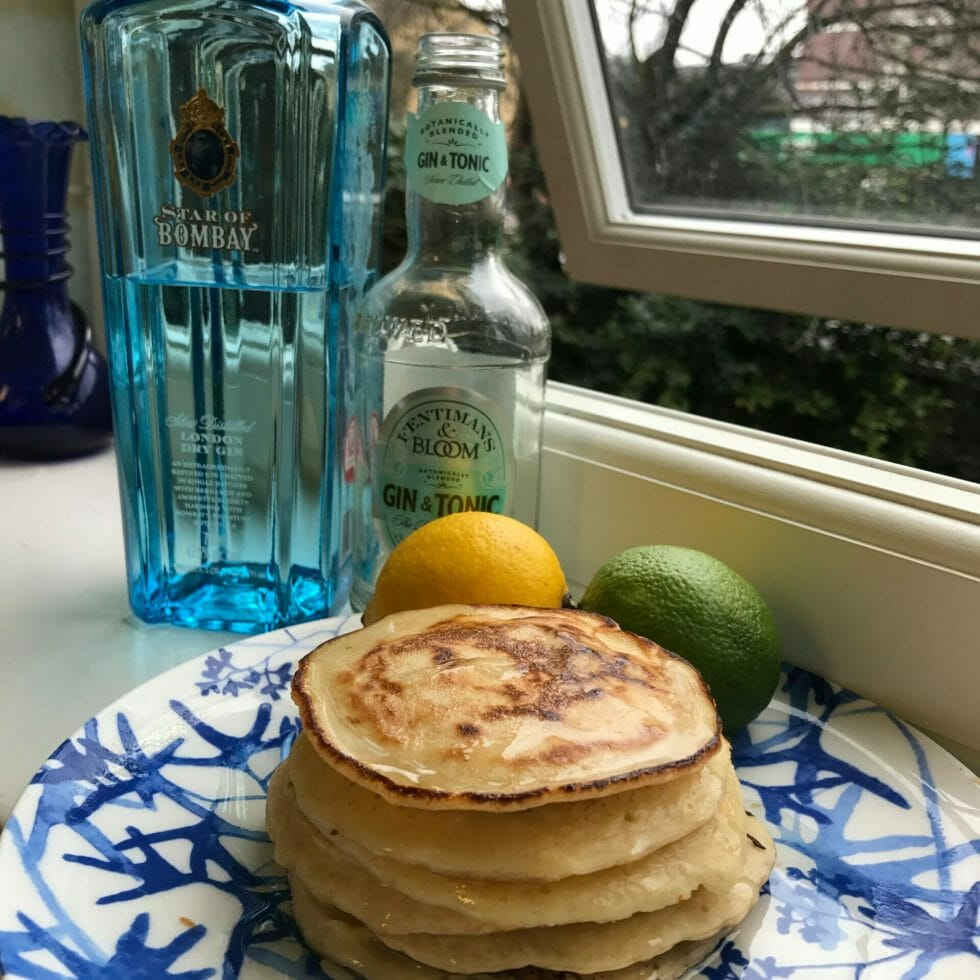 Pancakes with Star of Bombay gin and Fentimans & Bloom premix G&T