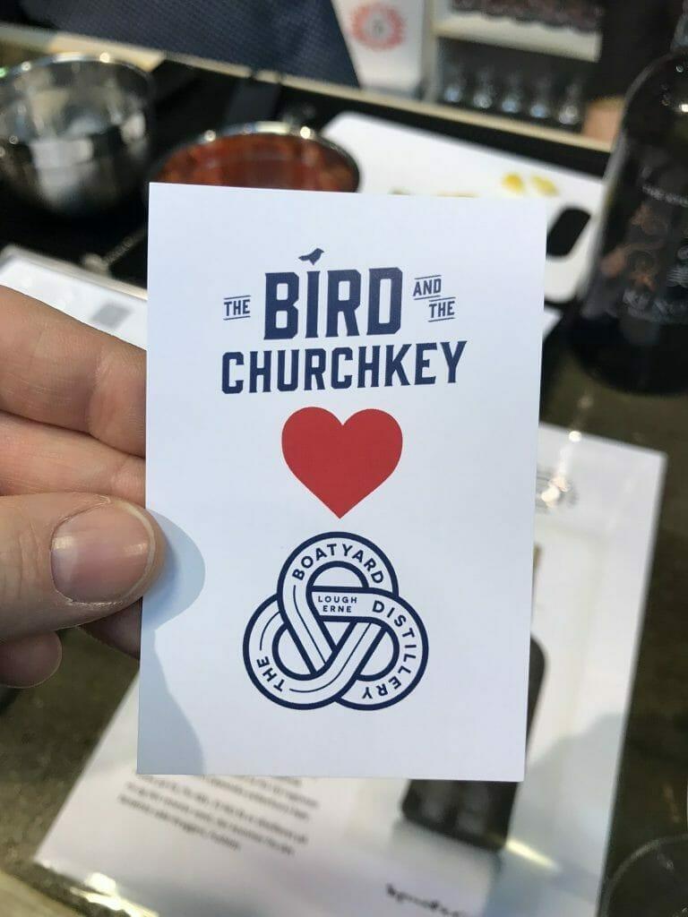 The Bird and the Churchkey Boatyard gin launch flier