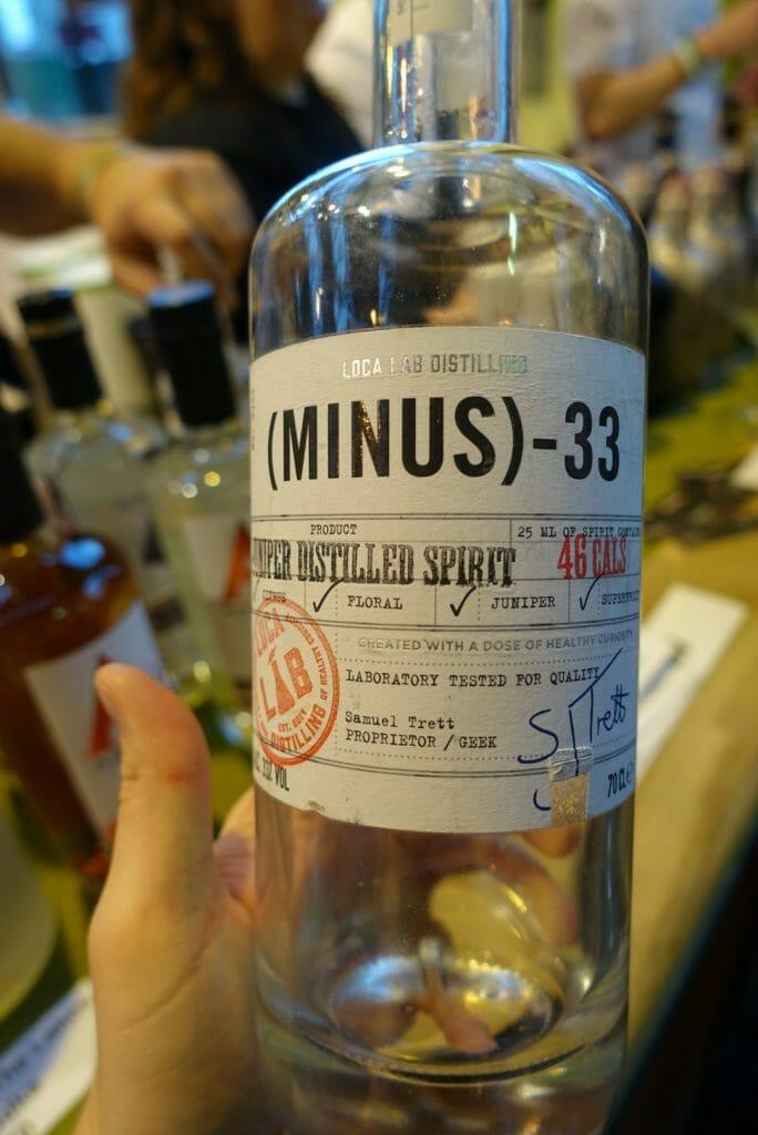 Minus 33 'gin'