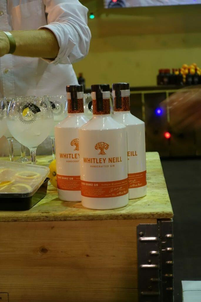 Whitley Neill Blood Orange gin bottles
