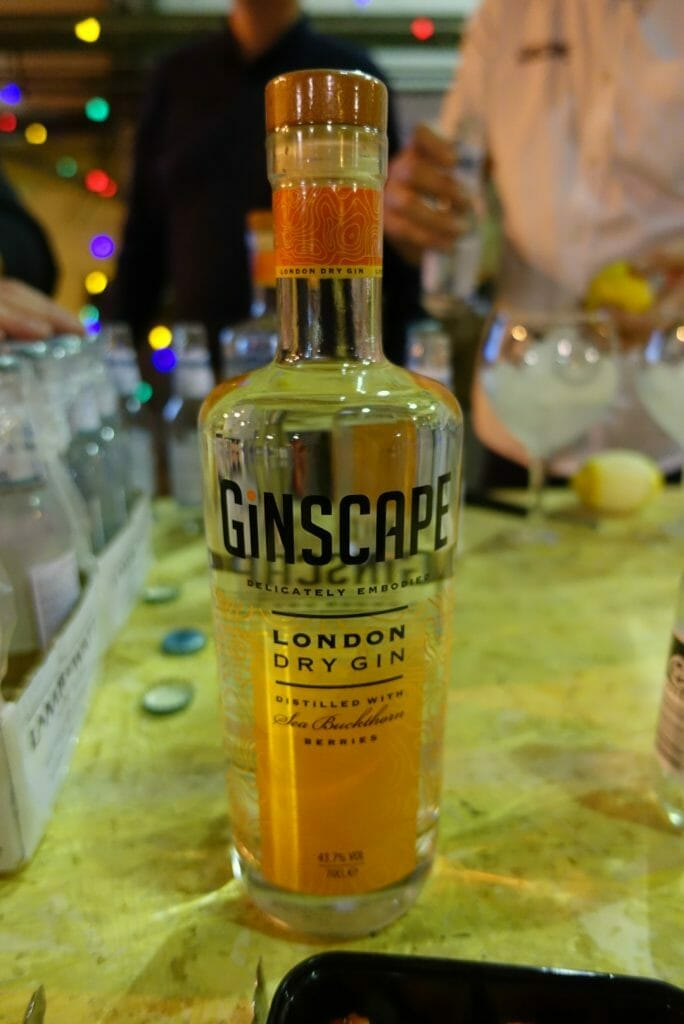 Ginscape gin botle