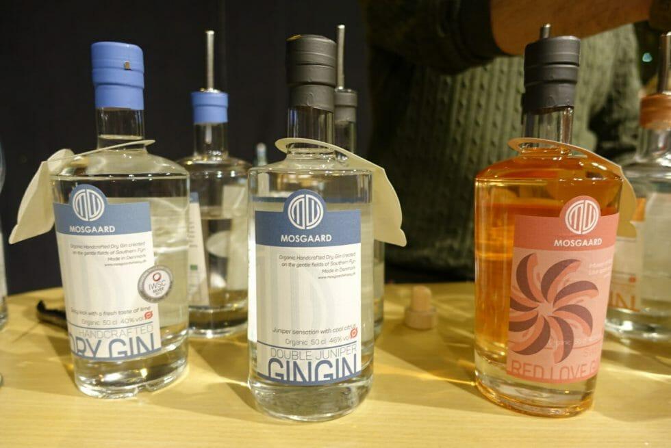 Mosgaard gin bottles
