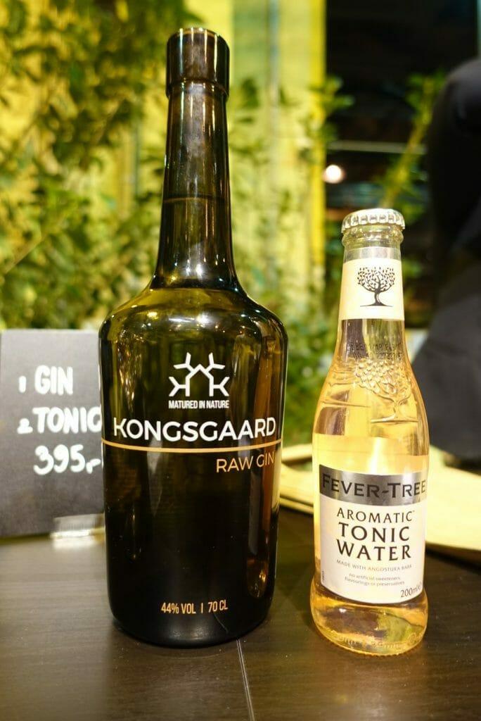 Kongsgaard Raw Gin and Fevertree aromatic tonic water