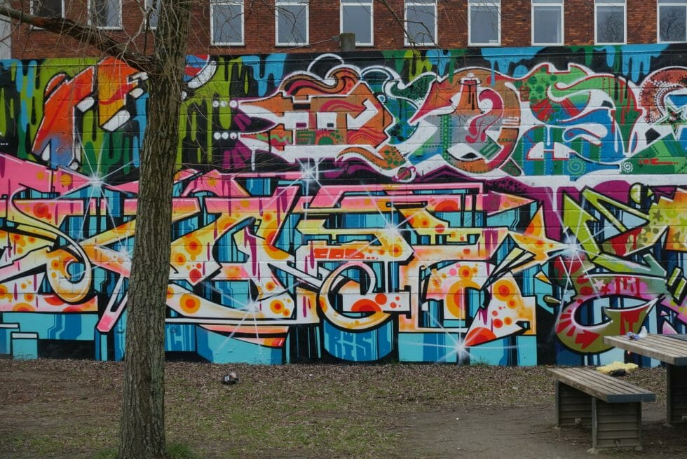 Another colourful graffiti wall