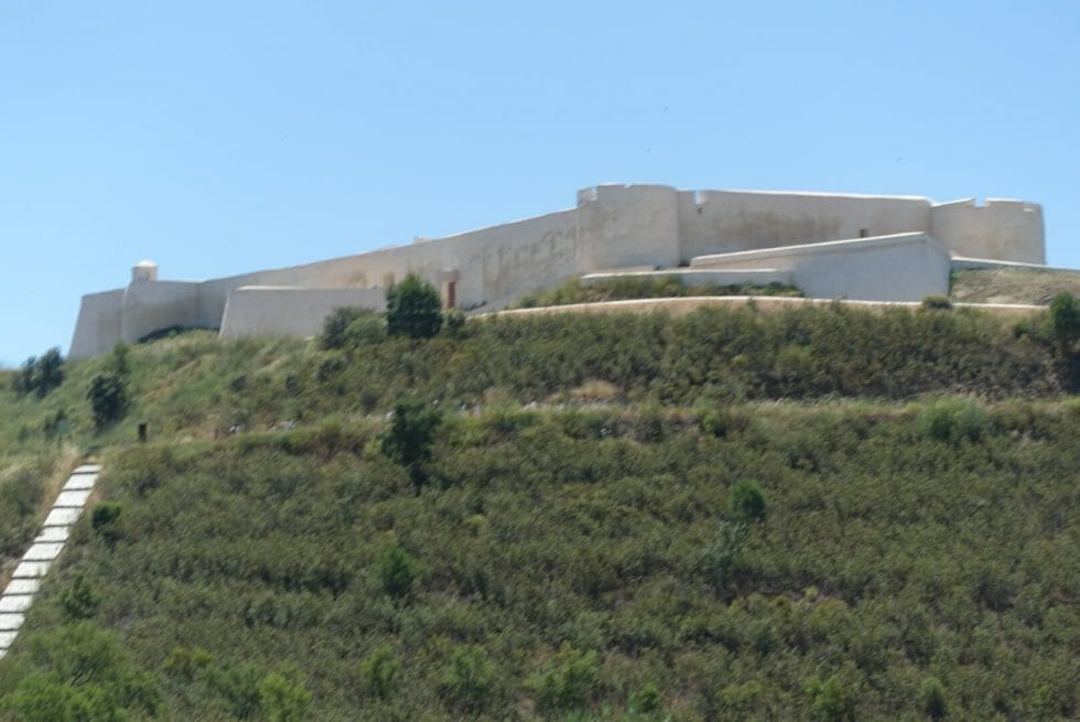The fort above the town