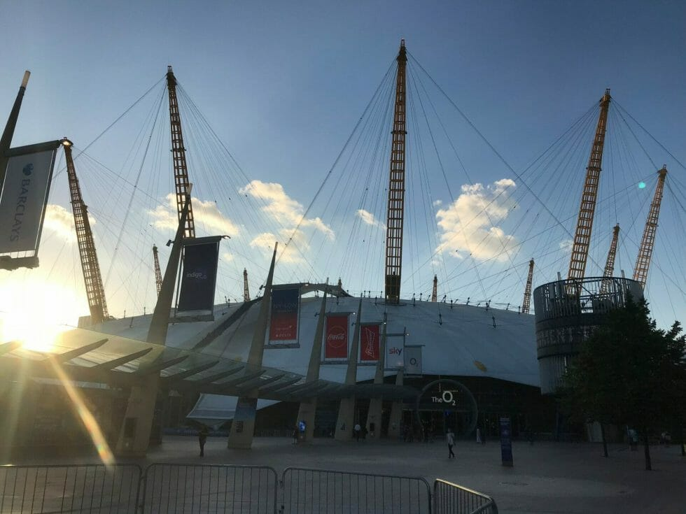 The O2 arena from ground level