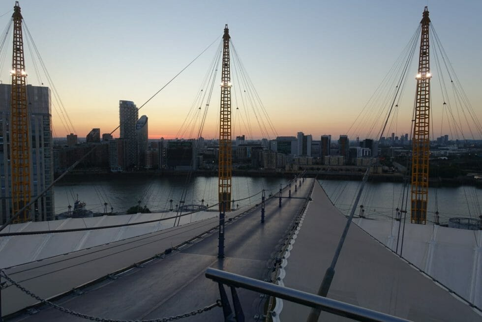Sunset from the top of the O2 arena