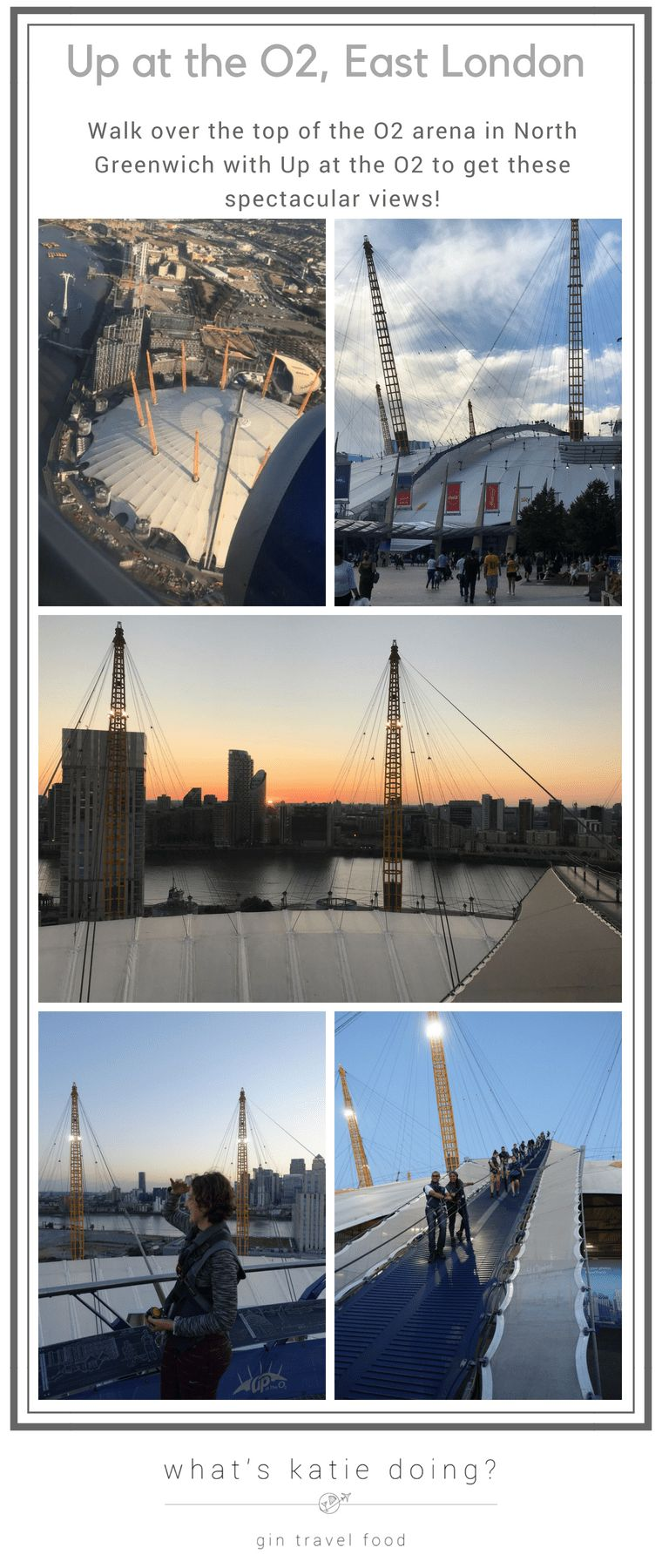Up at the O2 - walking over the O2 Arena