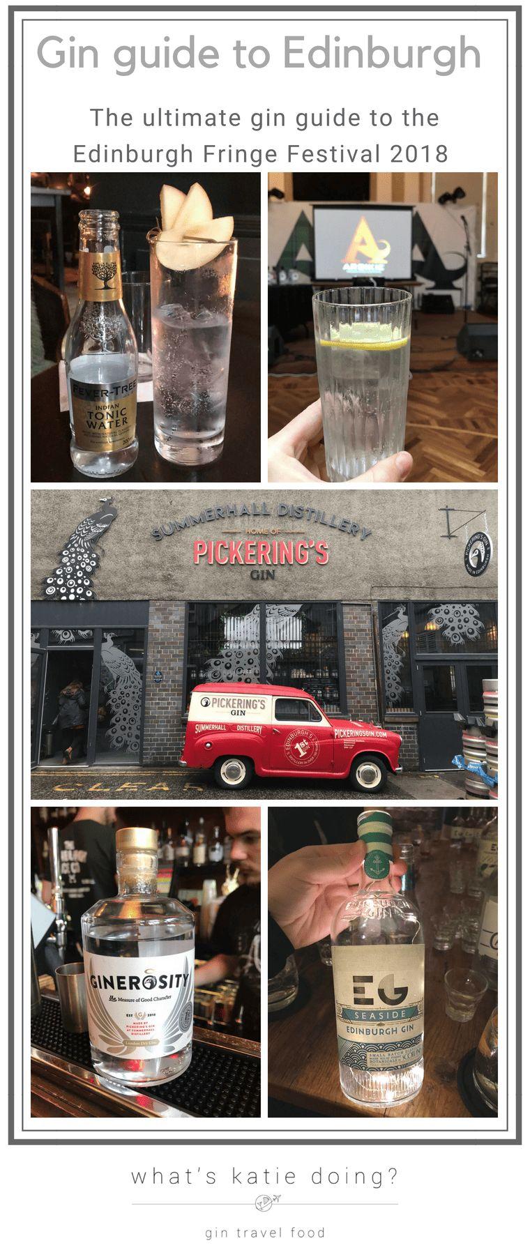 Gin guide to the Edinburgh Fringe Festival 2018