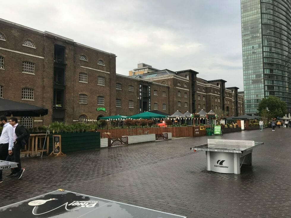 The old warehouses next to the quayside