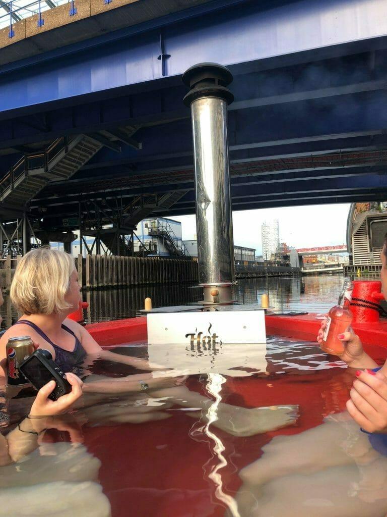 Under the DLR bridge we go!