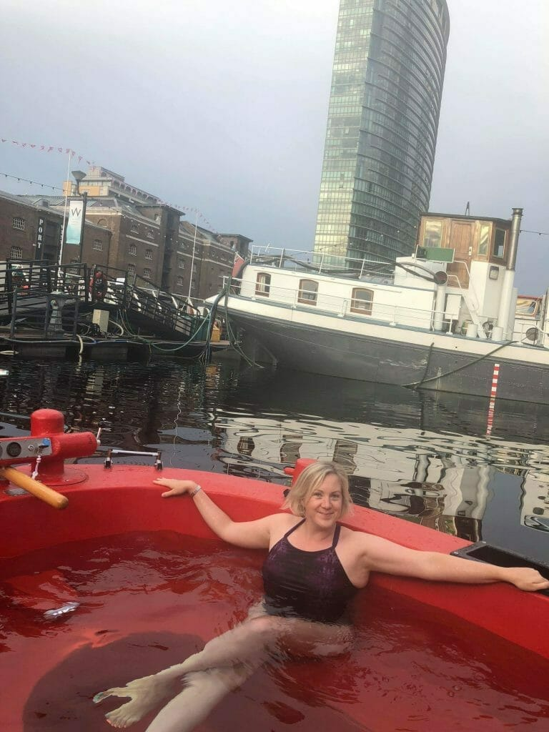 Katie in the HotTug at West India Quay