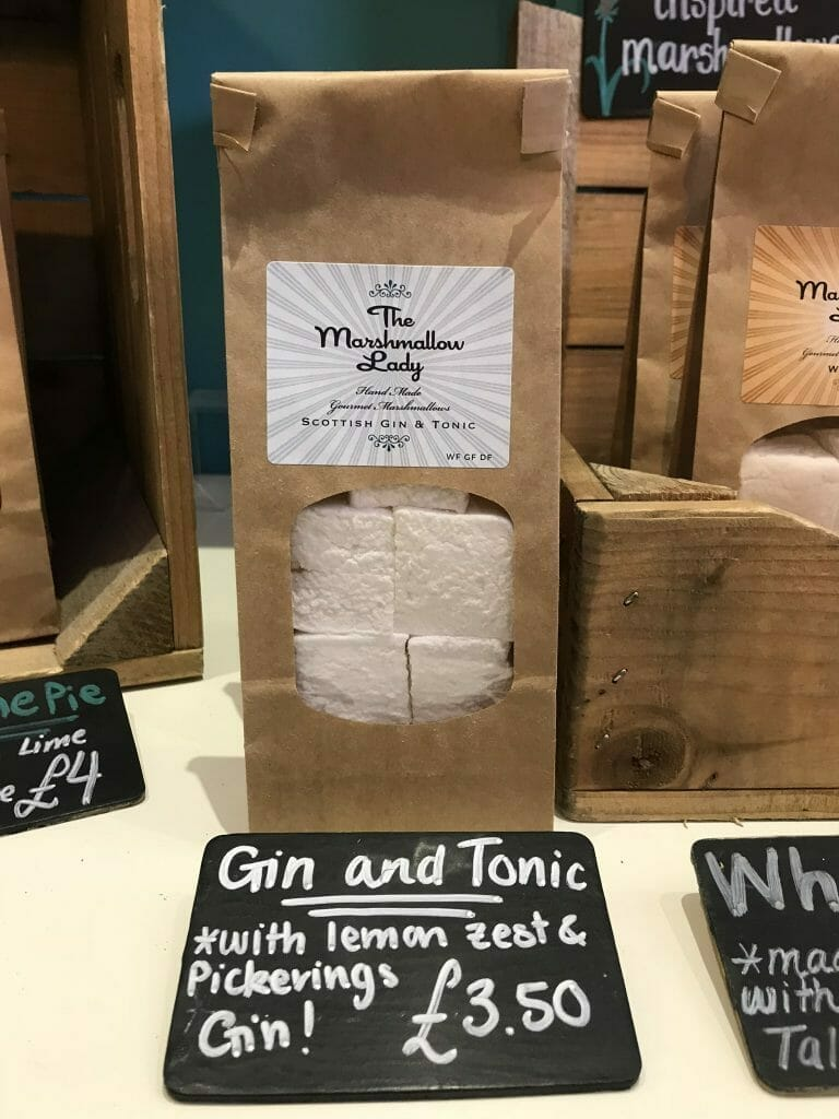 The gin and tonic marshmallows that we visited to try