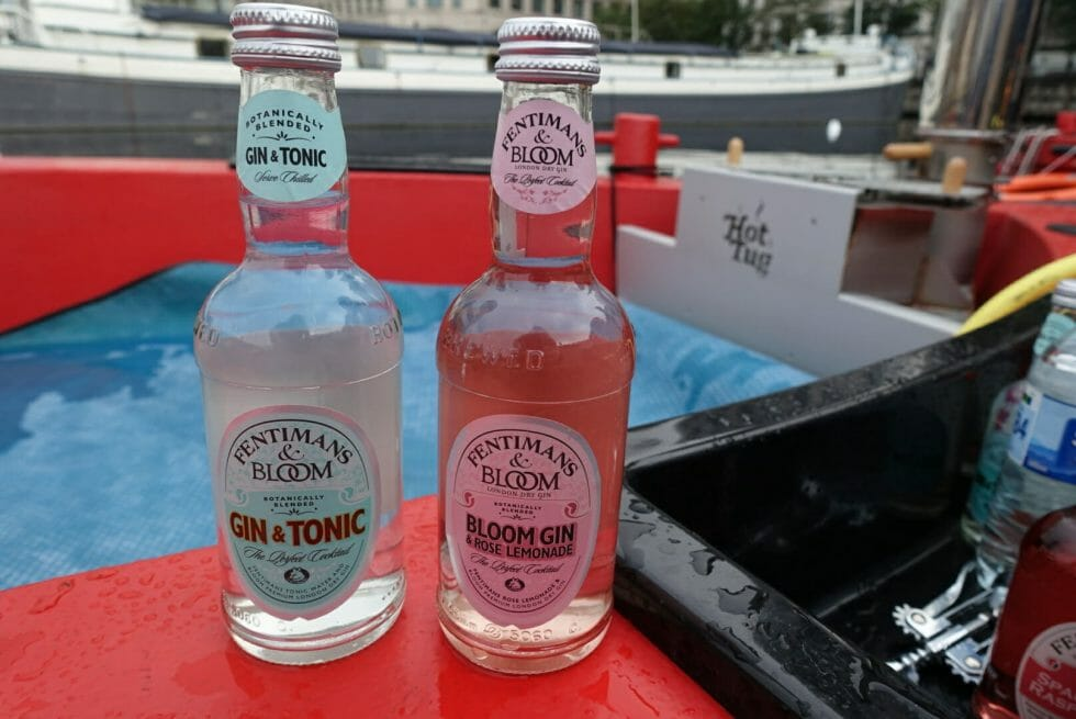 G&T and gin and Rose Lemonade from Bloom gin and Fentimans tonic