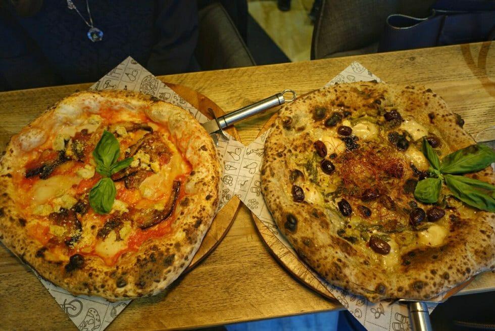 The vegan pizzas at Purezza