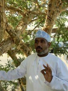 Our guide Said in his traditional Omani cap and pristine white dish dash