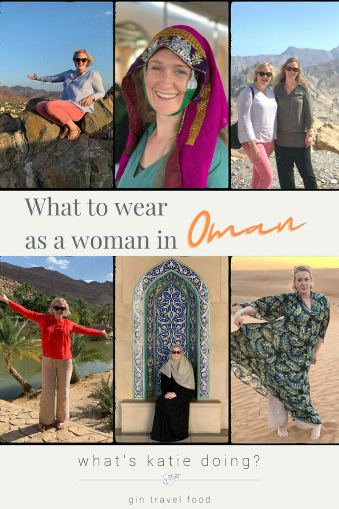 What to wear as a woman in Oman - 6 pictures of western woman