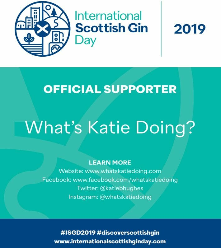 International Scottish Gin Day - the first is in 2019!