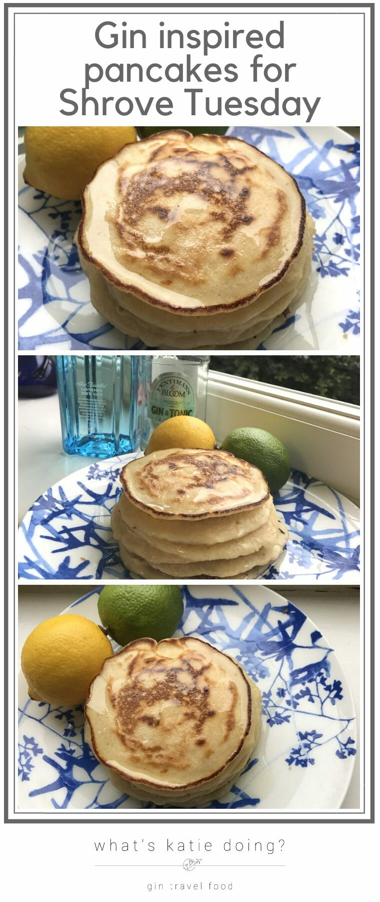Gin inspired pancakes for Shrove Tuesday Pancake Day