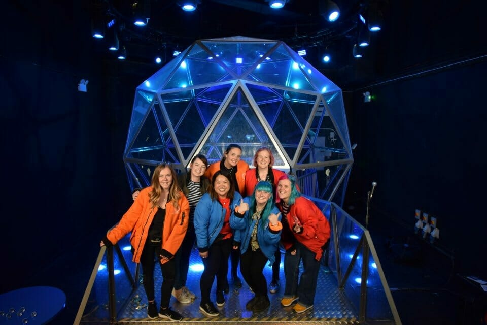 The London Crystal Ladies in front of the Crystal Dome