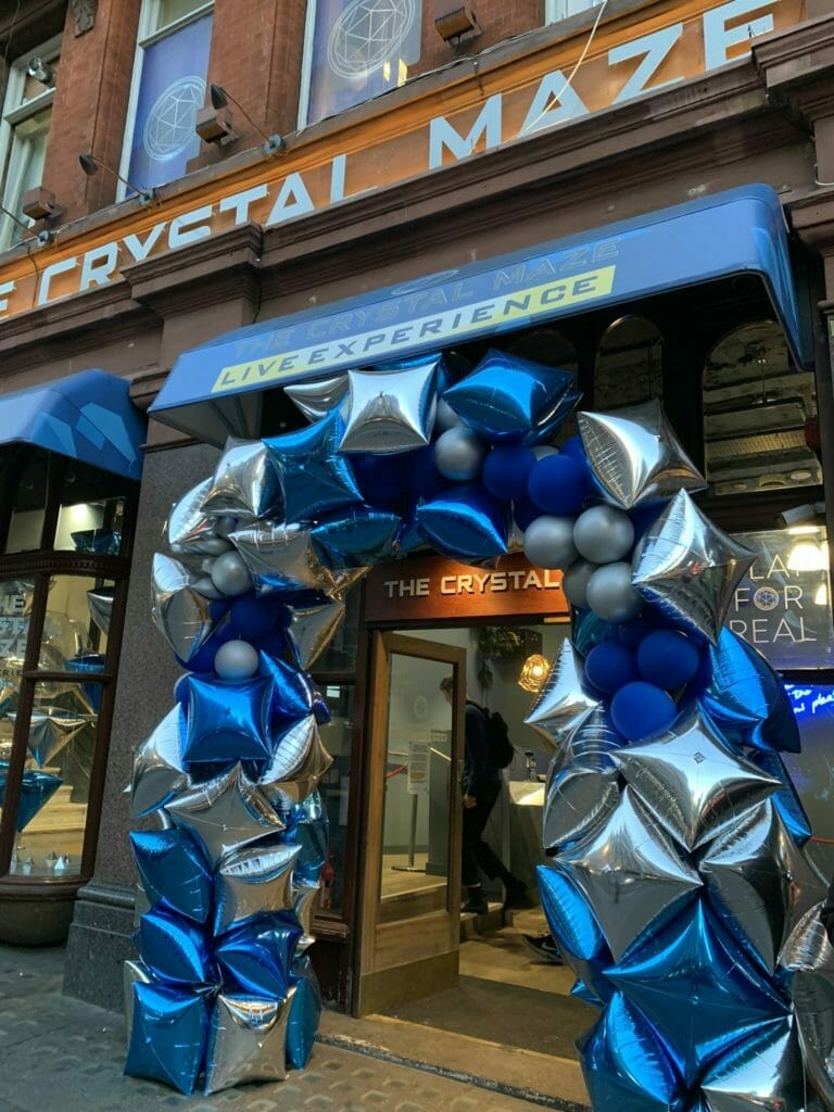 The entrance to the Crystal Maze on Shaftesbury Avenue