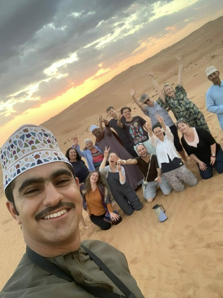 Selfie taken by our guide on the Oman tour with Intrepid