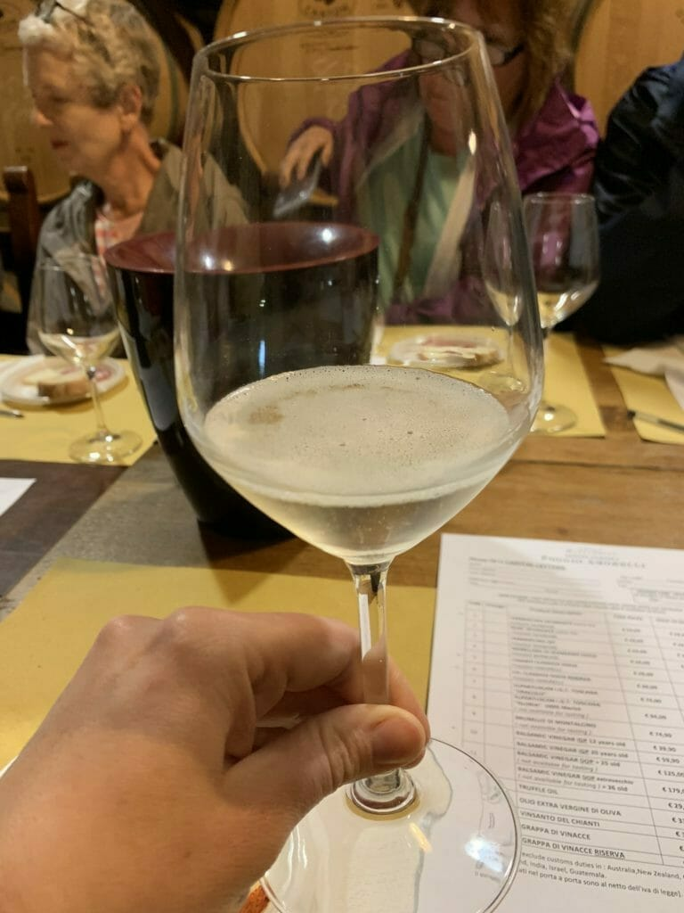 A glass of the spumante
