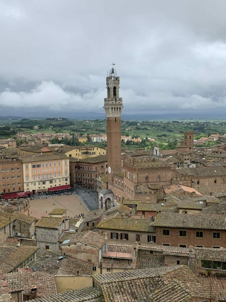 View of the main square in Siena