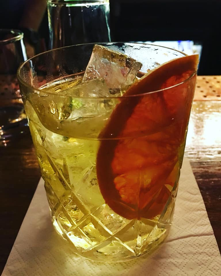 White Negroni made with Plymouth gin