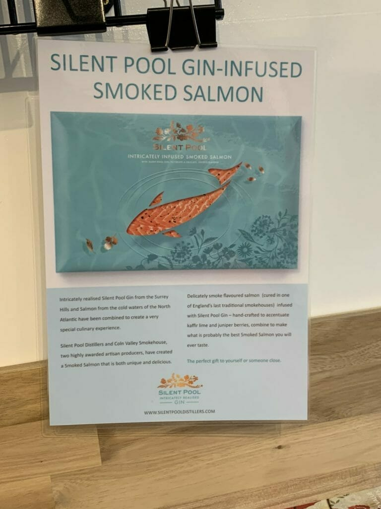 Silent Pool gin-infused smoked salmon