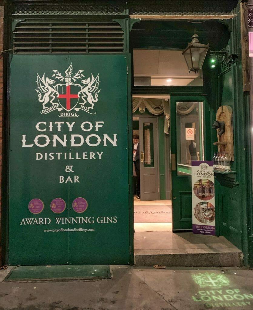 Street entrance to City of London Distillery
