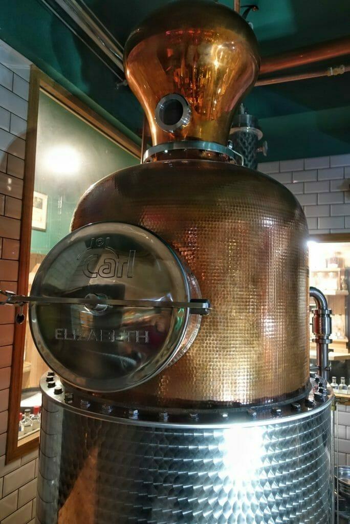 Elizabeth the newest still in the distillery
