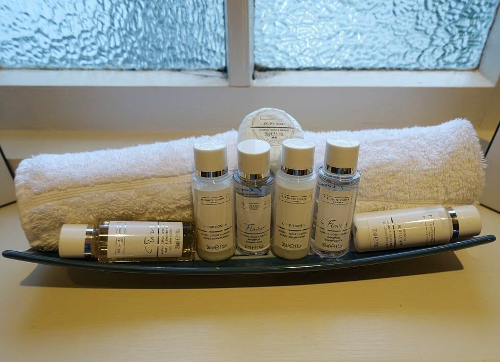 White Company toiletries at Talland Bay Hotel