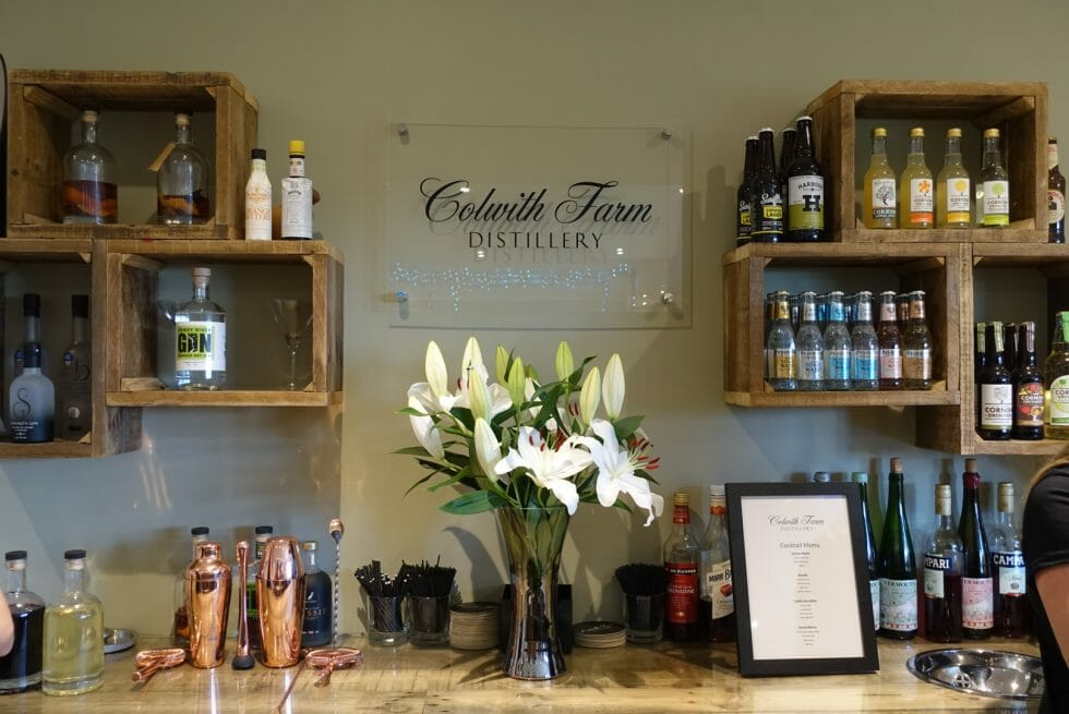 Colwith Farm Distillery tour & gin tasting - the bar area