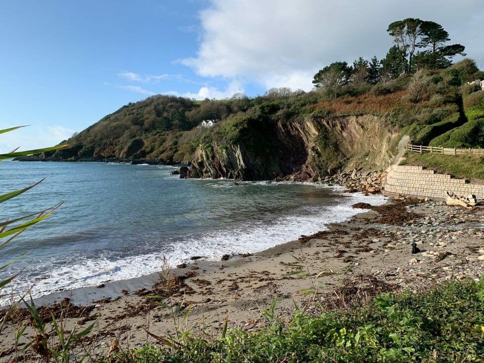 Talland Bay beach and headland