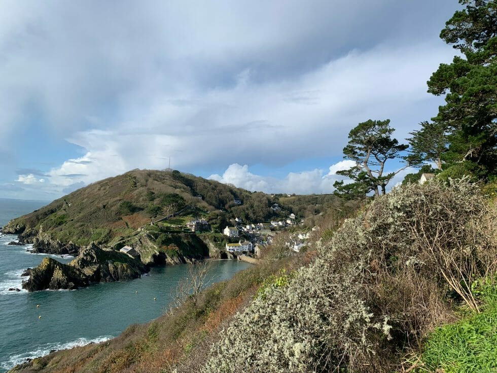 View over the cliffs to Polperro
