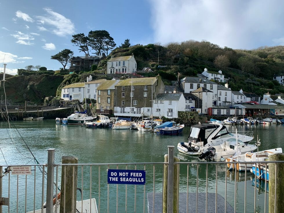 View over Polperro harbour