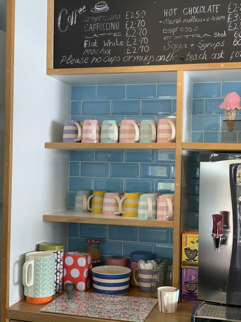 Pastel Cornish-ware mugs
