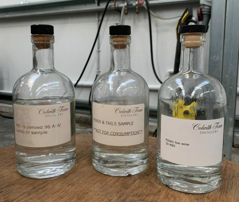 Samples from throughout the spirit making process