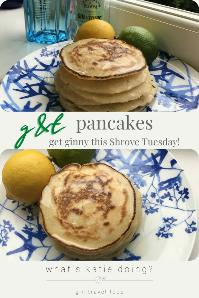 Gin and tonic pancakes - for an adult Pancake Day