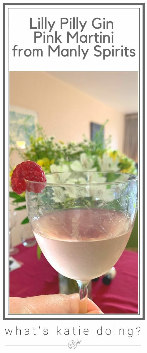 Lilly Pilly gin pink martini, from Manly Spirits Australia