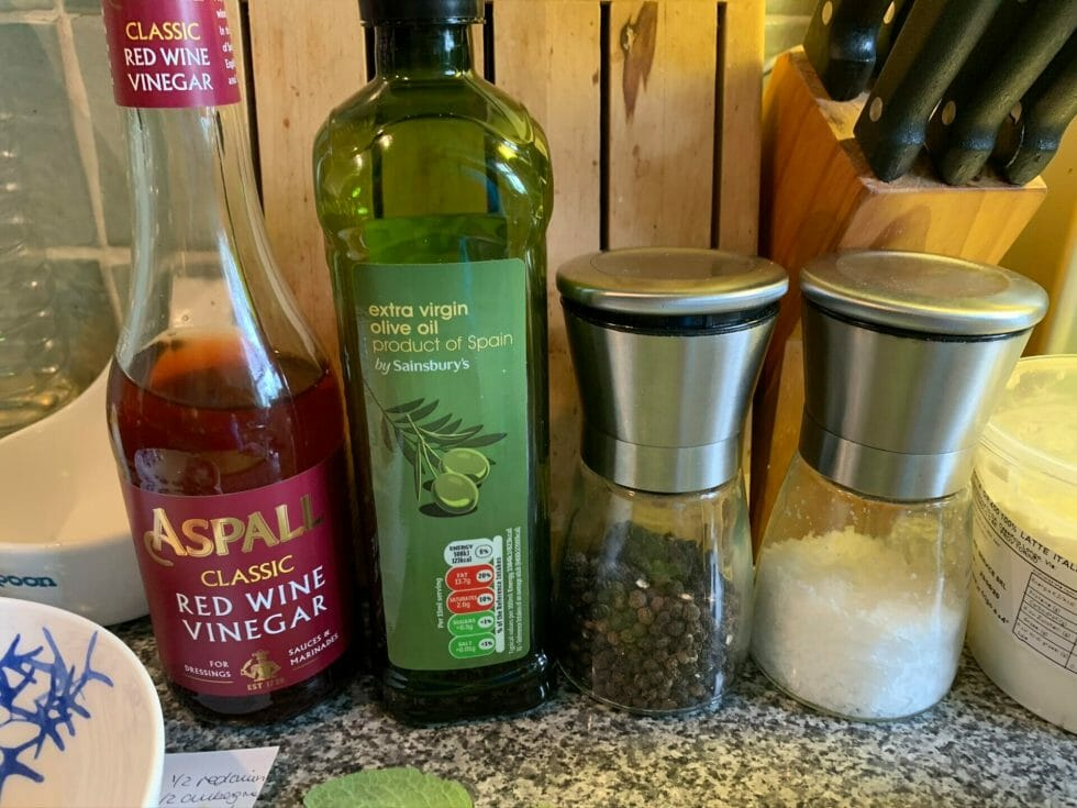 A line up of store cupboard ingredients you'll need