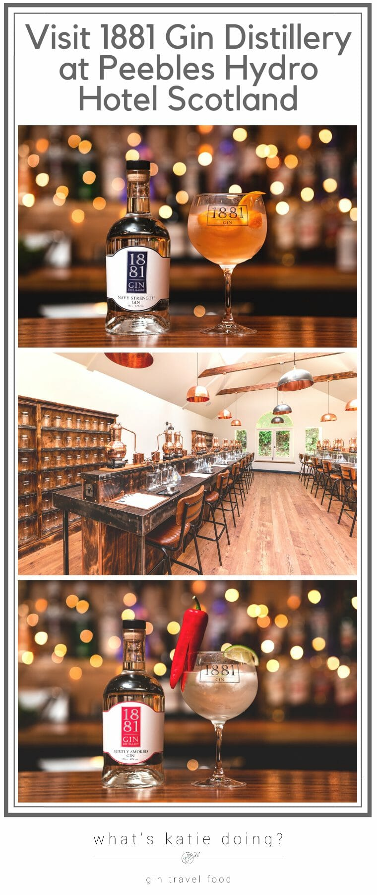 1881 gin distillery tours, tastings and gin school at Peebles Hydro hotel in Scotland