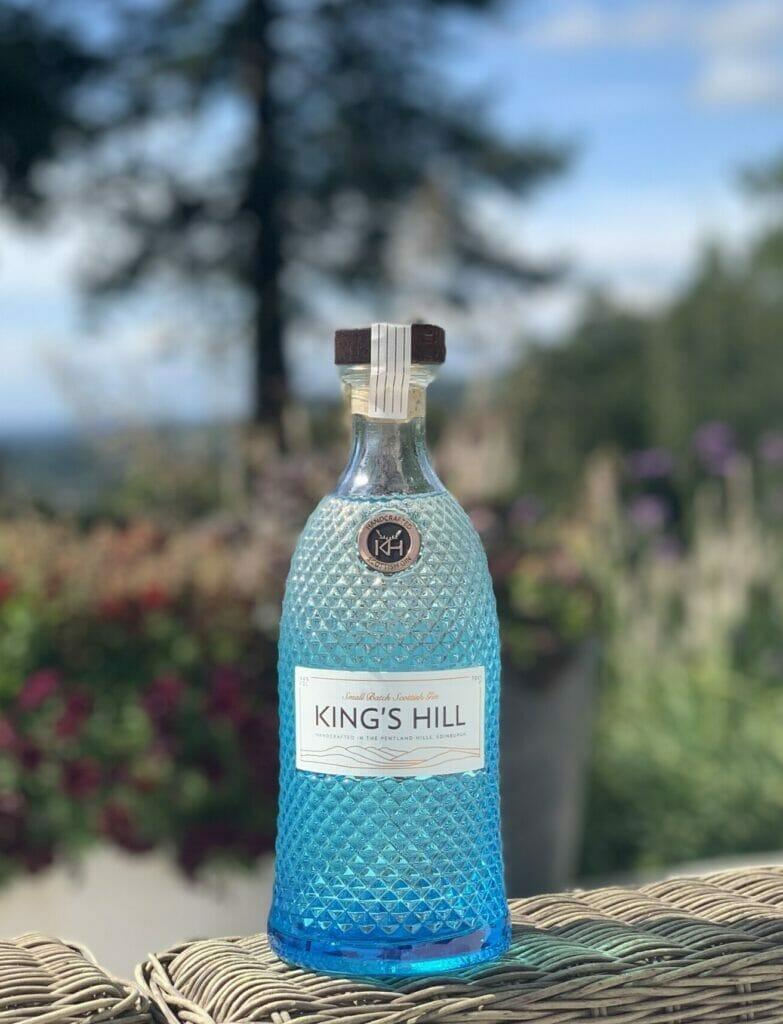 Kings Hill blue diamond embossed bottle