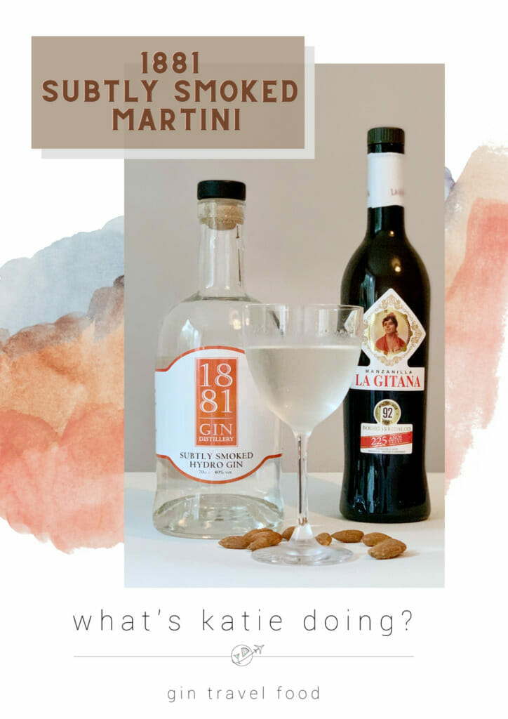1881 gin distillery Subtly Smoked Spanish Martini