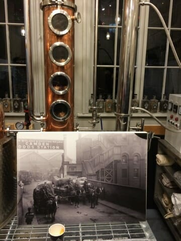 The inside of the Half Hitch distillery