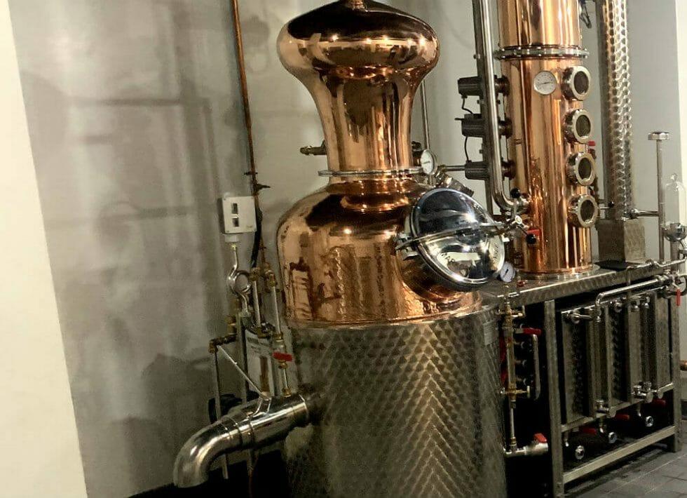 Felicity the 1881 distillery still